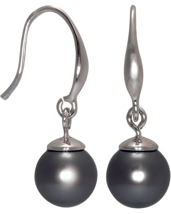 Btime Classic Black Pearl Drop Earrings