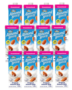 Almond Breeze 1liter Unsweetened Almond Milk - 12 Pack
