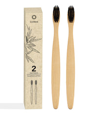 EcoWave Bamboo Toothbrushes - Pack of 2