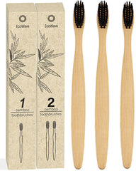 EcoWave Bamboo Toothbrushes - Pack of 3