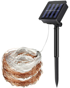 Solar Power Outdoor String Copper Wire Fairy Lights 20m Warm White
