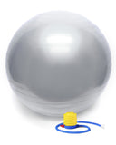 65cm Yoga Pilates Excuses Balance Ball Silver with Pump
