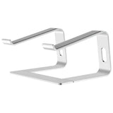 Ergonomic Detachable Portable Aluminum Alloy Laptop Riser - Silver