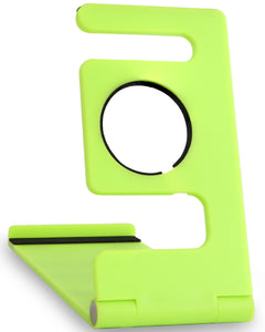 Portable Universal Desktop Phone Holder & iWatch Charging Stand - Lime Green