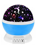 Star Night Light Galaxy Projector LED Lights and 360 Degree Rotation - Blue