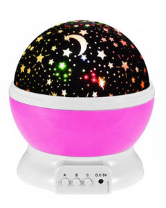 Star Night Light Galaxy Projector LED Lights and 360 Degree Rotation - Pink