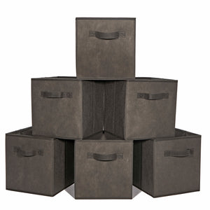Loop Storage boxes Foldable Storage Bins Pack of 6 - Charcoal