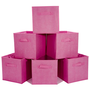 Loop Storage boxes Foldable Storage Bins Pack of 6 - Crimson Pink