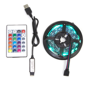 Strip Lights LED Multicoloured USB Powered Flexible 5050 RGB - 3m