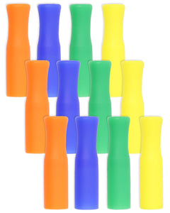 Reusable Silicone Tips For Stainless Steel Straws - 12 Pack Mixed Colors