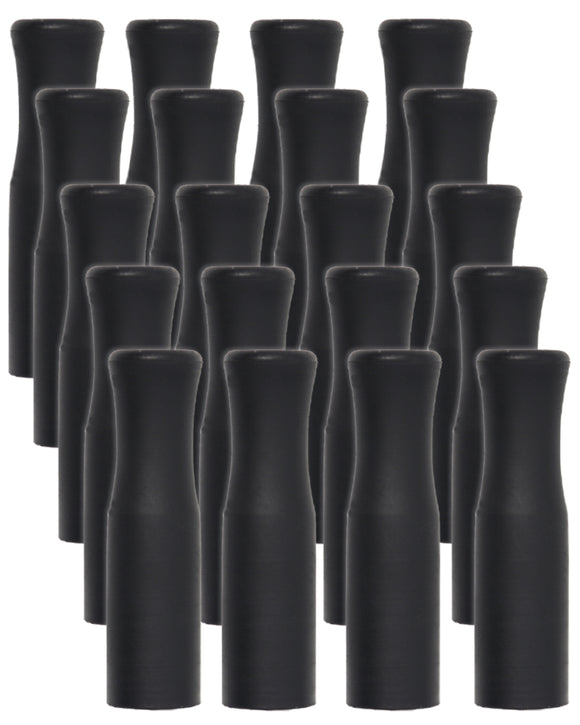 Reusable Silicone Tips For Stainless Steel Straws - 20 Pack Black