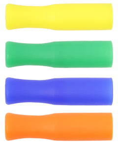 Reusable Silicone Tips For Stainless Steel Straws - 4 Pack Mixed Colors