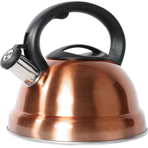 Stainless Steel Stovetop 3L Whistle Kettle Full Handle - Rose Gold