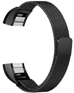 Gretmol Black Milanese Fitbit Alta Replacement Strap
