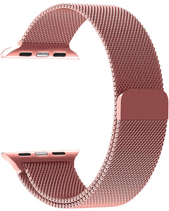 Gretmol Rose Pink Milanese Apple Watch Replacement Strap - 42mm
