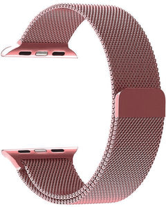 Gretmol Rose Pink Milanese Apple Watch Replacement Strap - 38mm