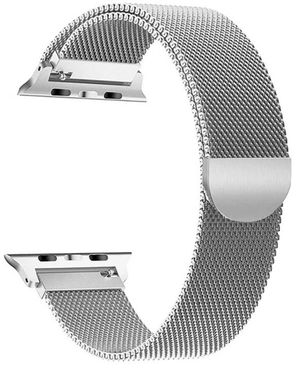 Gretmol Silver Milanese Apple Watch Replacement Strap - 38 mm