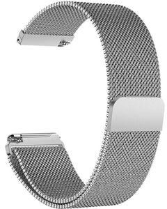 Gretmol Milanese Replacement Strap for Fitbit Versa - Silver