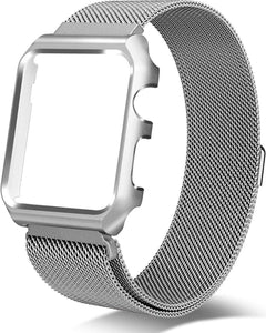 Gretmol Silver Milanese Apple Watch Replacement Strap With Frame - 38mm