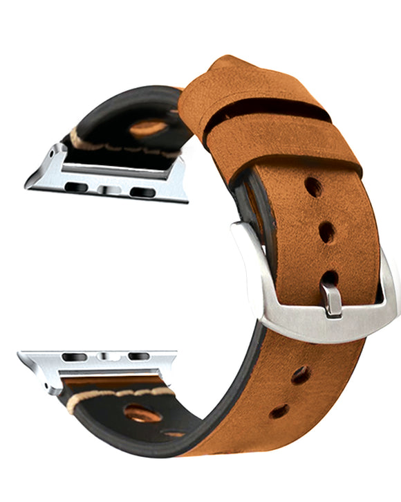 Gretmol Rugged Replacement Strap for Apple Watch - Brown (42 mm)