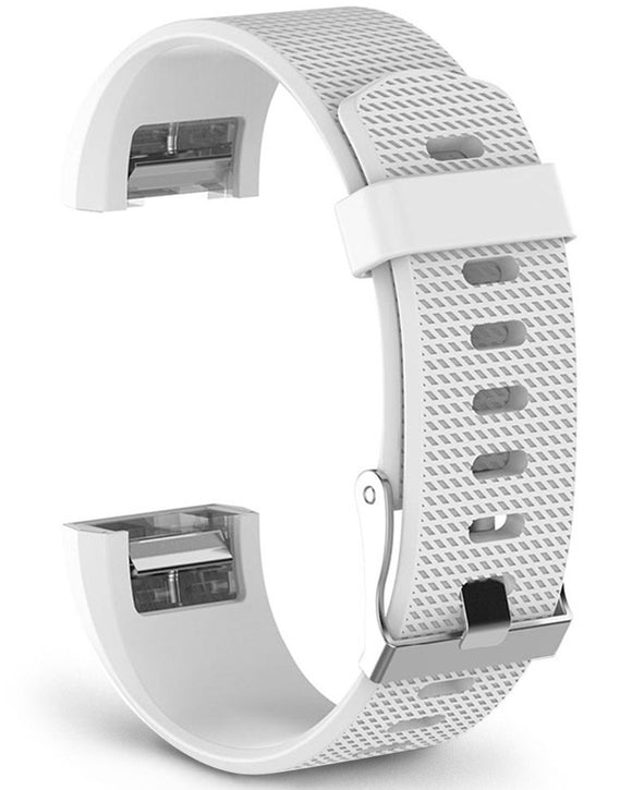 Gretmol White Fitbit Charge 2 Sport Silicone Replacement Strap - Buckle