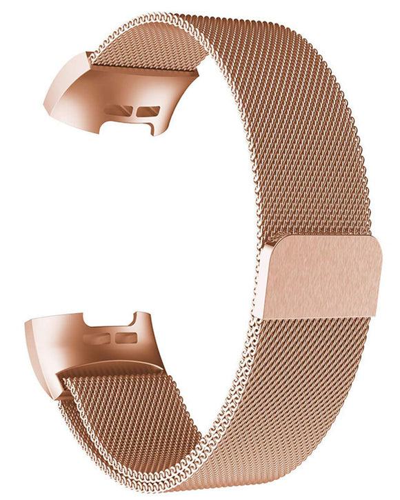 Gretmol Rose Gold Milanese Fitbit Charge 3 Replacement Strap