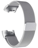 Gretmol Silver Milanese Fitbit Charge 3 Replacement Strap