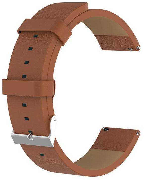 Gretmol Brown Leather Watch Replacement Strap For Fitbit Versa