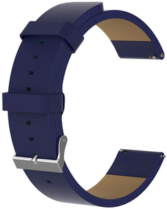 Gretmol Dark Blue Leather Watch Replacement Strap For Fitbit Versa