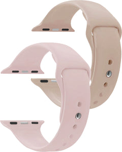 42 mm Sand Pink & Walnut  Watch Novel Sport Strap Combo - Gretmol
