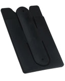 Phone Stick-on wallet Thin Silicone Card Holder With Phone Stand - Black