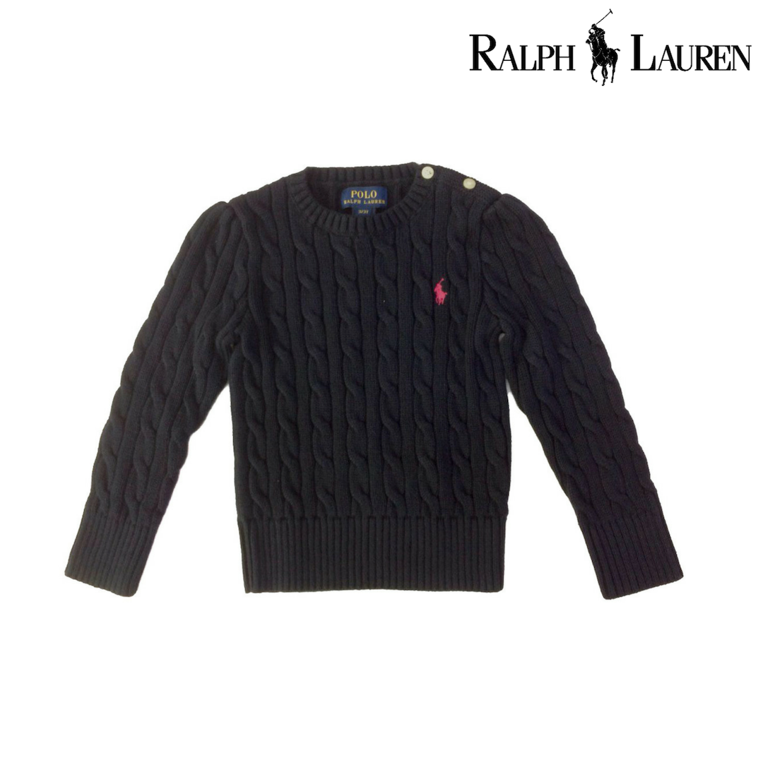 Ralph Lauren Cable-Knit Cotton Sweaters, Hunter Navy