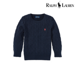 Ralph Lauren Cable-Knit Cotton Sweaters, Small