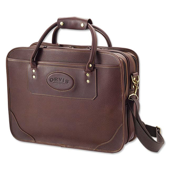 Orvis Bullhide Leather Extra-capacity Briefcase, Brown