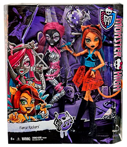 Monster High Fierce Rockers Catty Noir & Toralei Stripe Dolls
