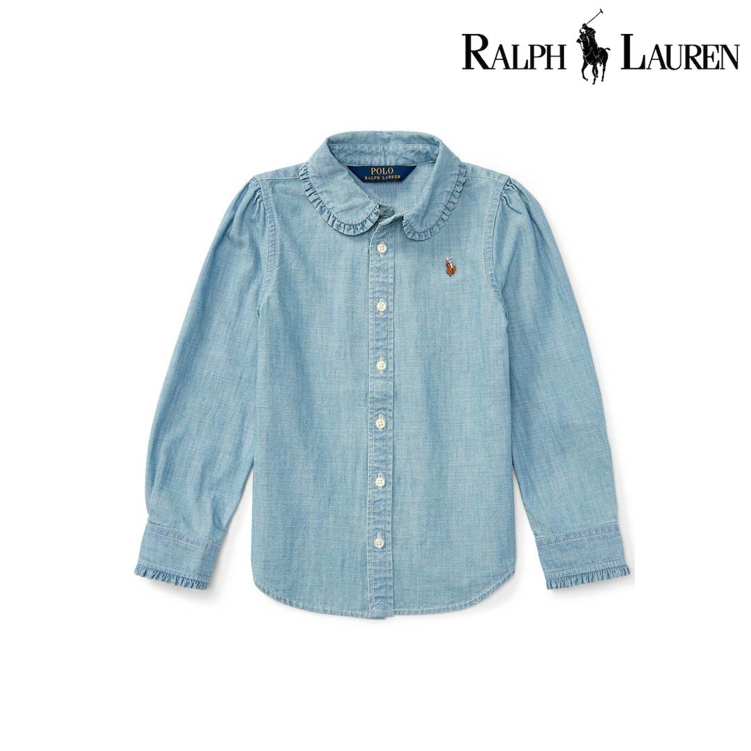 Ralph Lauren Ruffled Cotton Chambray