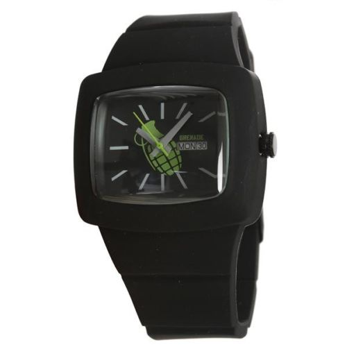 Grenade Flare Watch, Black/Black