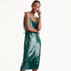 J.Crew Collection Tie-Shoulder Sequin Dress, Size 4