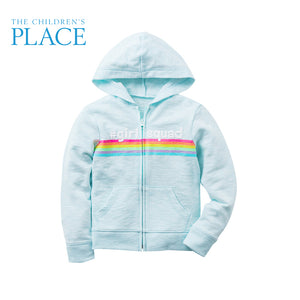 The Childrens Place Girls Zipper Hooded Sweater, S(5/6)