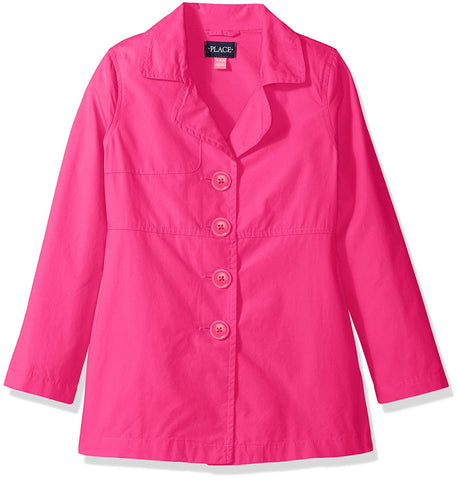 The Children's Place Girls' Trench Coat, Pink