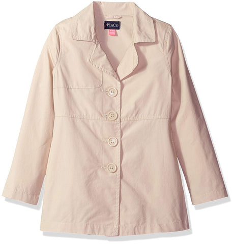The Children's Place Girls' Trench Coat, Tan