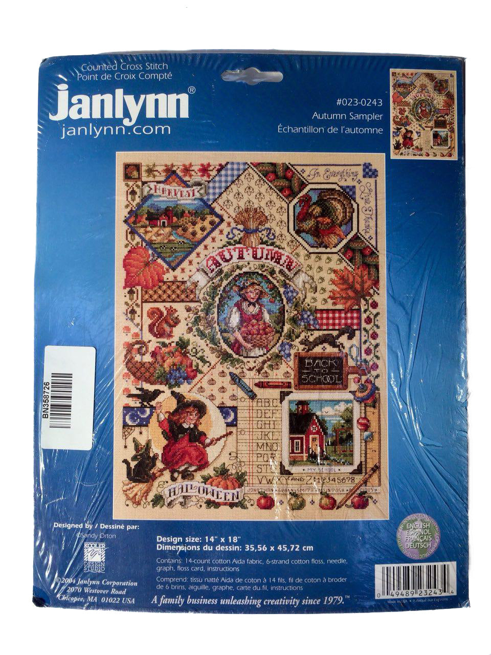 Janlynn Autumn Sampler Cross Stitch