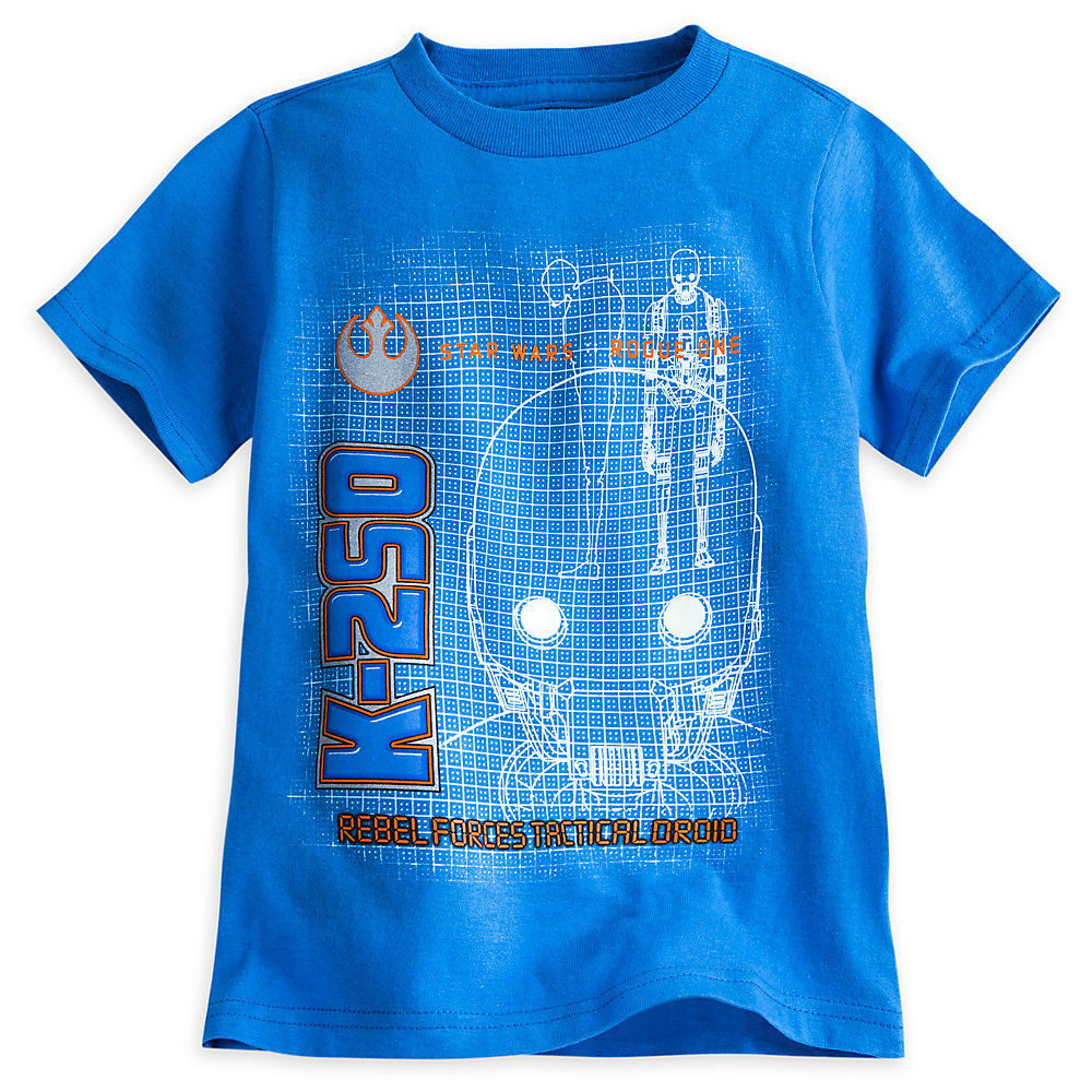 Disney Store Star Wars K-2SO Glow in the Dark Tee, L