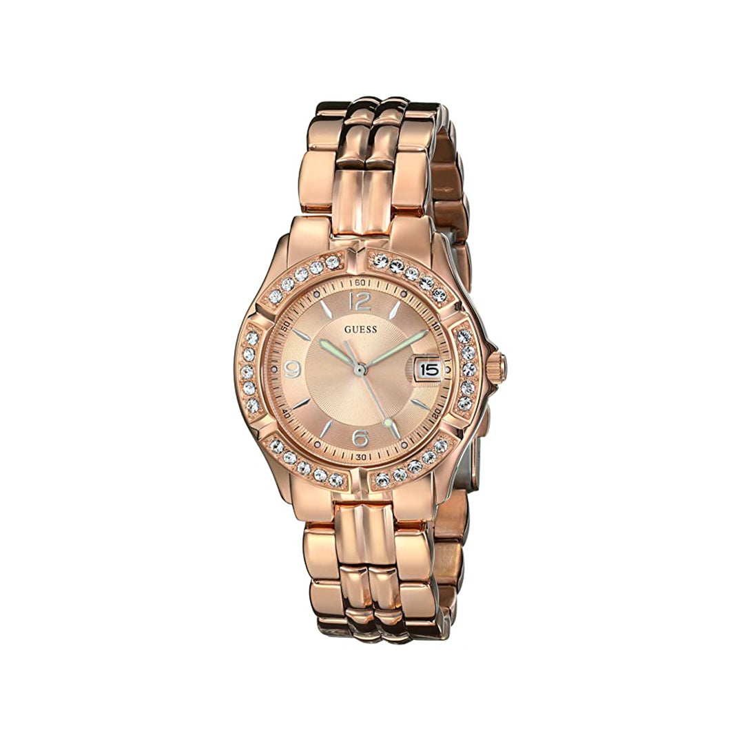 Guess Stainless Steel Two-Tone Crystal Accented Watch
