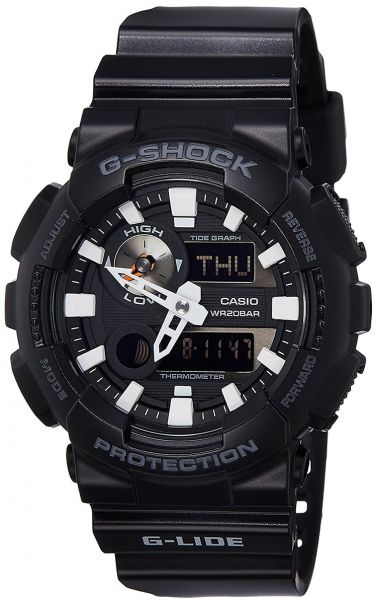 Casio GAX-100B-1ADR  Black Dial Silicone Band Watch