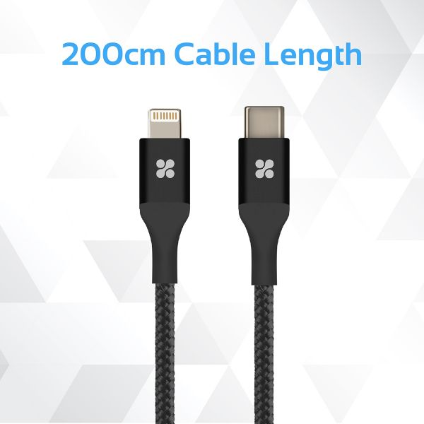 Promate USB Type-C to Lightning Cable, 200cm