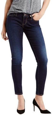 Levi's Curvy Skinny Styled Jeans For Women- Indigo Ridge