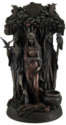 Resin Statues Danu Irish Triple Goddess Of The Tuatha De Danann