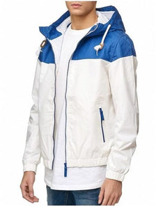 Soul Star Men's Shower Resistant Color Blocked Hooded