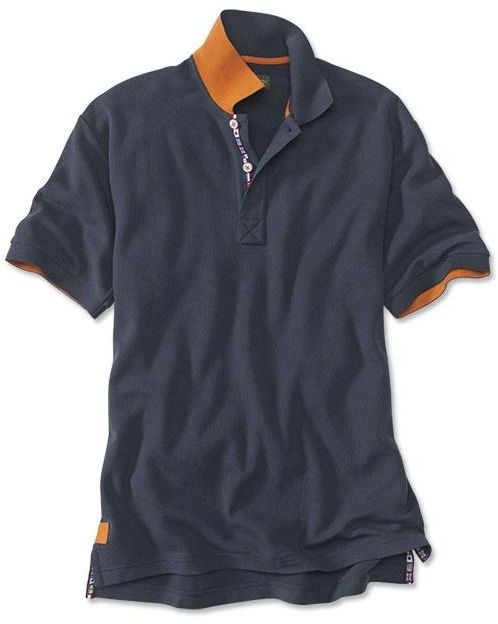 Orvis World Flag Polo, Navy, Large